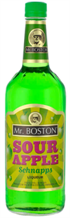 Mr. Boston Schnapps Sour Apple 1.00l - Case of 12